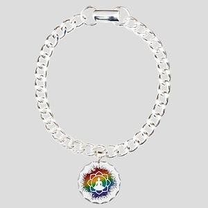 LGBT Buddhist Lotus Charm Bracelet, One Charm
