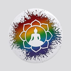 LGBT Buddhist Lotus Ornament (Round)