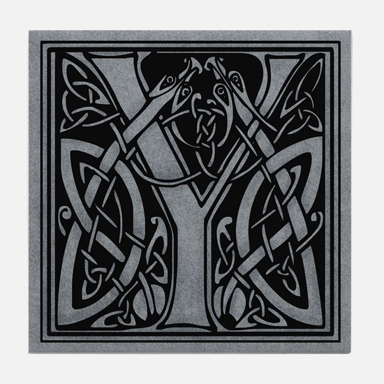 Celtic Monogram Y Tile Coaster