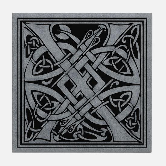 Celtic Monogram X Tile Coaster