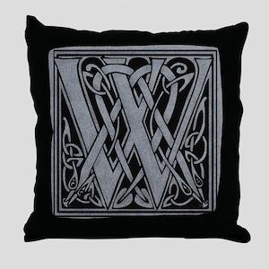 Celtic Monogram W Throw Pillow