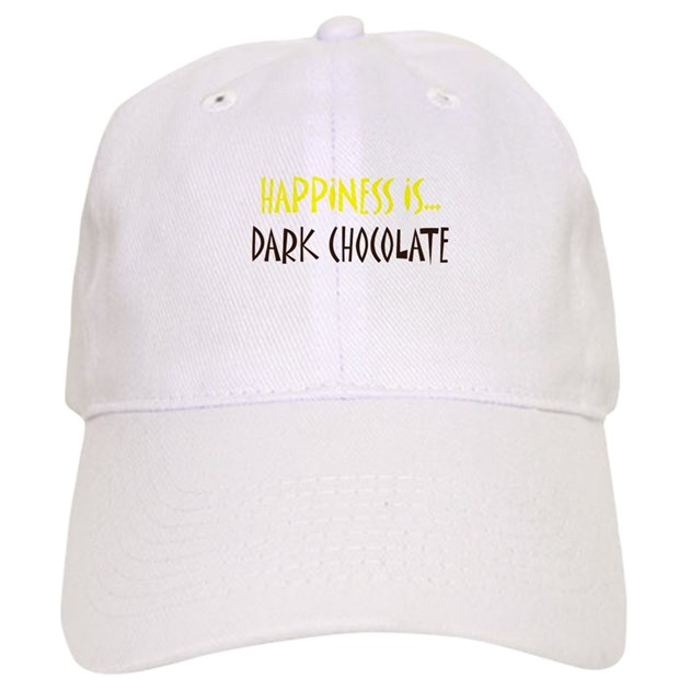 Chocolate Baseball Cap: Happiness Is Dark Chocolate Baseball Cap By TheSimpleLife