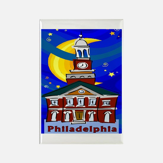 Starry Night Philadelphia Magnets