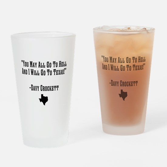 You May All Go To Hell Drinking Glass