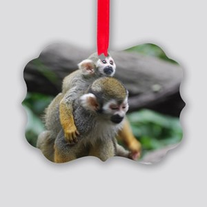 Pair of Squirrel Monkeys Picture Ornament