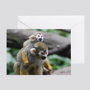 Pair of Squirrel Monkeys Greeting Card