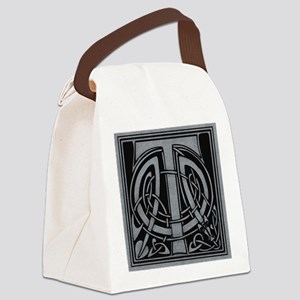 Celtic Monogram T Canvas Lunch Bag