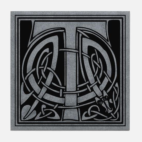 Celtic Monogram T Tile Coaster