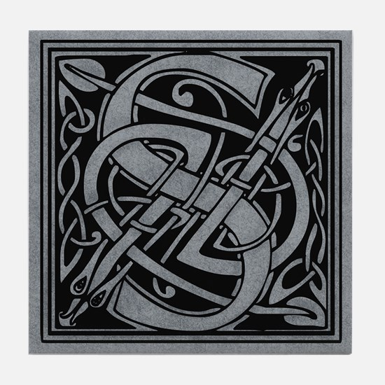 Celtic Monogram S Tile Coaster