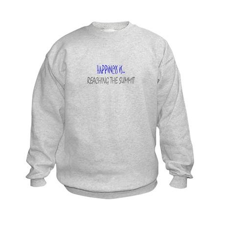 Happiness is Reaching Summit Kids Sweatshirt