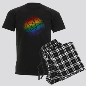 LGBT Pagan Pentacle Men's Dark Pajamas