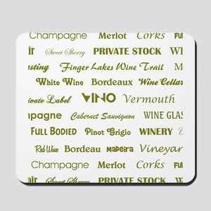 WINE WORDS Mousepad