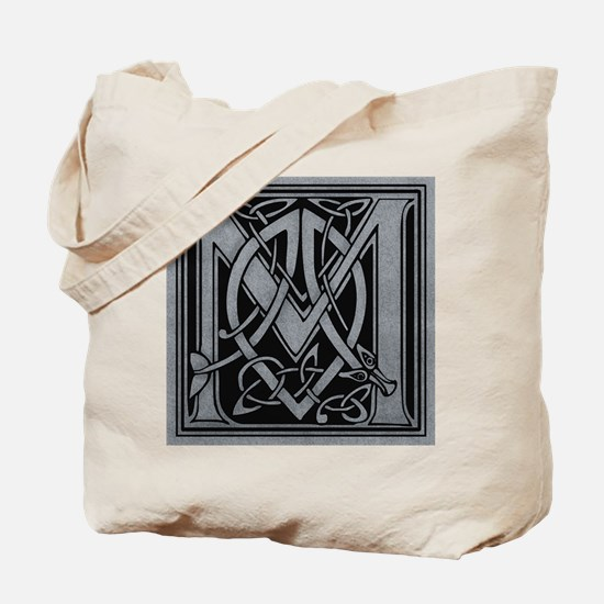 Celtic Monogram M Tote Bag