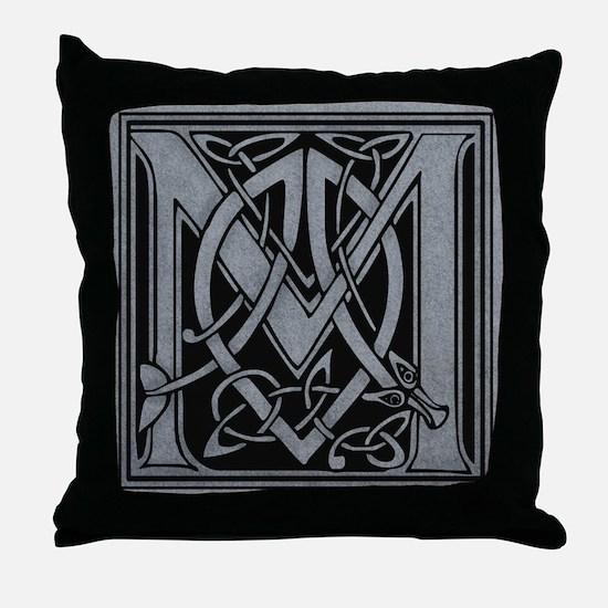 Celtic Monogram M Throw Pillow