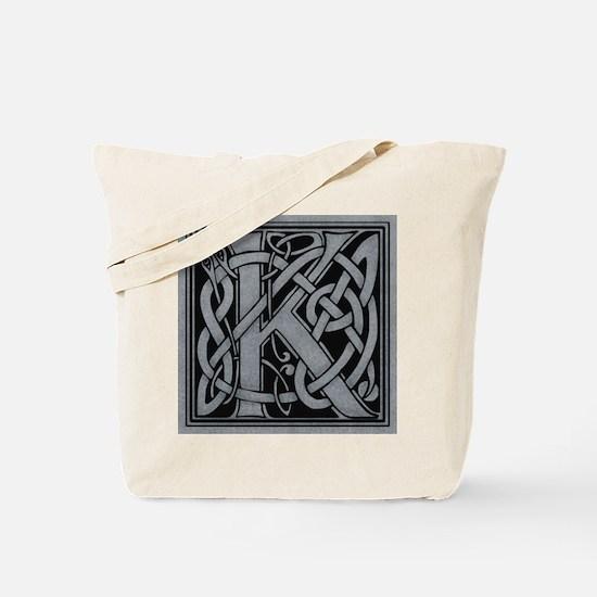 Celtic Monogram K Tote Bag