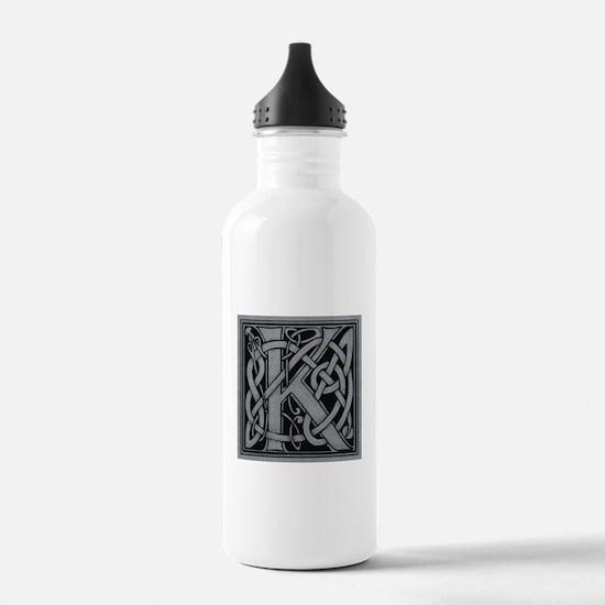 Celtic Monogram K Water Bottle