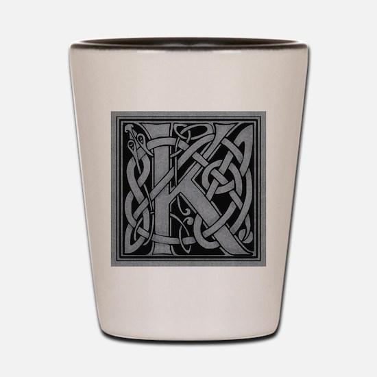 Celtic Monogram K Shot Glass