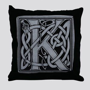 Celtic Monogram K Throw Pillow