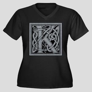 Celtic Monog Women's Plus Size V-Neck Dark T-Shirt