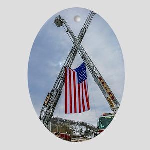 Fallen Firefighter  Oval Ornament