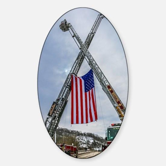 Fallen Firefighter  Sticker (Oval)