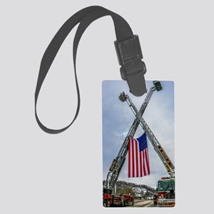 Fallen Firefighter  Large Luggage Tag