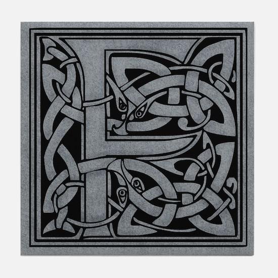 Celtic Monogram F Tile Coaster