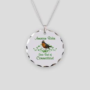 Robin Connecticut Bird Necklace Circle Charm