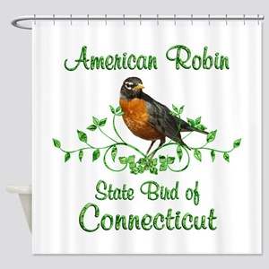 Robin Connecticut Bird Shower Curtain