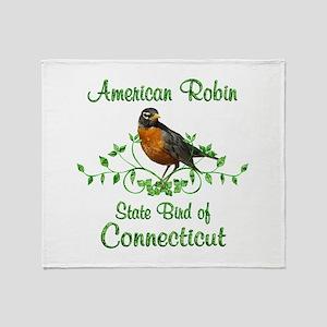 Robin Connecticut Bird Throw Blanket