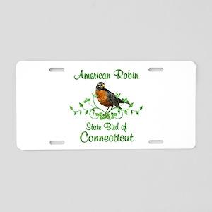 Robin Connecticut Bird Aluminum License Plate