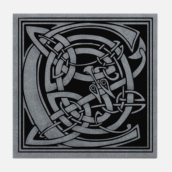 Celtic Monogram C Tile Coaster