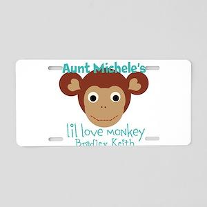 Personalize Love monkey Aluminum License Plate
