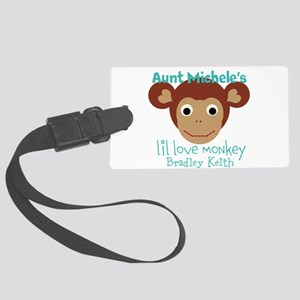 Personalize Love Monkey Large Luggage Tag