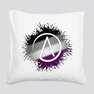 Atheist Symbol Asexual Square Canvas Pillow