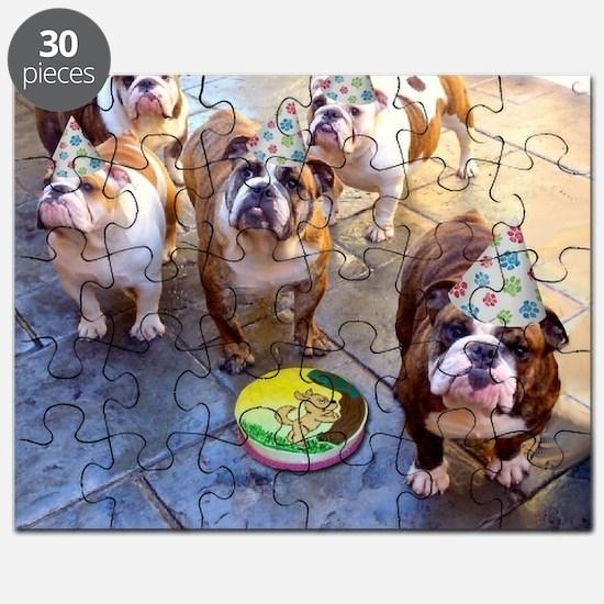 English Bulldog Birthday Party Puzzle