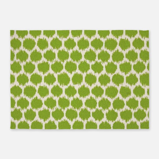 Funky green spot 5'x7'Area Rug