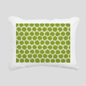 Funky green spot Rectangular Canvas Pillow