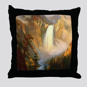 Yellowstone Falls Throw Pillow