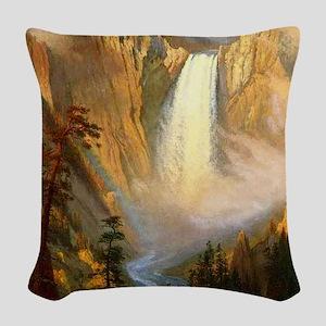 Yellowstone Falls Woven Throw Pillow