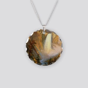 Yellowstone Falls Necklace Circle Charm
