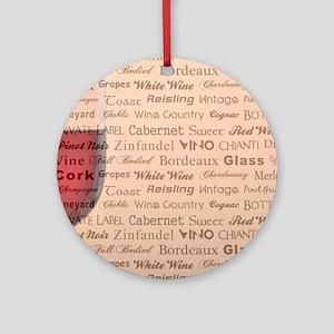 WINE TYPOGRAPHY Ornament (Round)