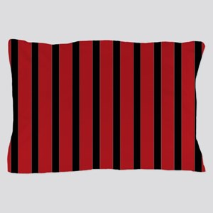 Red and Black Stripes Pillow Case