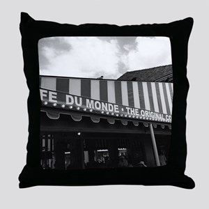 cafe du monde, new orleans Throw Pillow