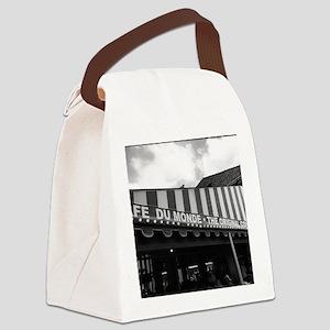 cafe du monde, new orleans Canvas Lunch Bag