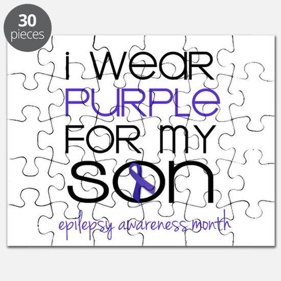 Wear Purple for Son - Epilepsy Awareness Month Puz