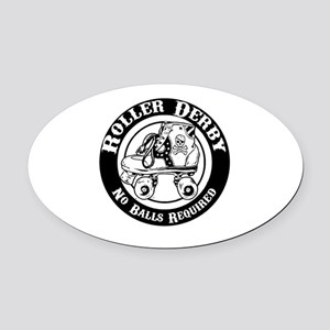 No Balls Required Oval Car Magnet