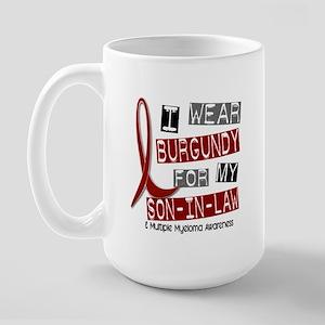 Multiple Myeloma I Wear Burgundy 37 Large Mug
