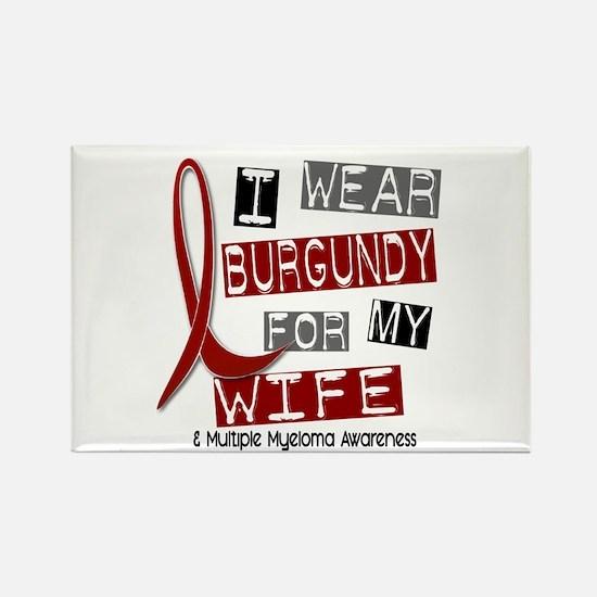 Multiple Myeloma I Wear Burgundy Rectangle Magnet