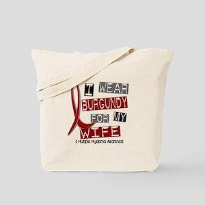 Multiple Myeloma I Wear Burgundy 37 Tote Bag